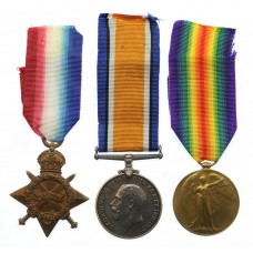 WW1 1914-15 Star Medal Trio - Pte. W. Phillips, 1st Bn. York &