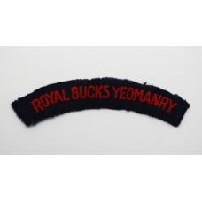Royal Buckinghamshire Yeomanry (ROYAL BUCKS YEOMANRY) Cloth Shoulder Title