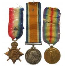 WW1 1914 Mons Star Prisoner of War Medal Group - Pte. F. Hubbard, 2nd Bn. King's Own Yorkshire Light Infantry (Captured at Mons)