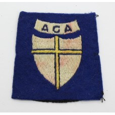 Allied Control Commission Austria Cloth Formation Sign