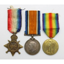 WW1 1914-15 Star Medal Trio - B. McGinty, A.B., Royal Navy (Served on H.M.S. Erin during the Battle of Jutland)