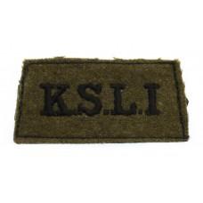 King's Shropshire Light Infantry (K.S.L.I.) WW2 Cloth Slip On Shoulder Title