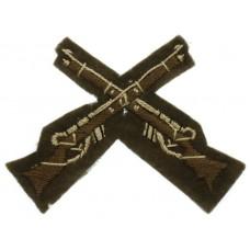 British Army Marksman (Crossed Rifles) Cloth Trade Badge