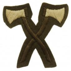 British Army Pioneer (Crossed Axes) Cloth Trade Badge