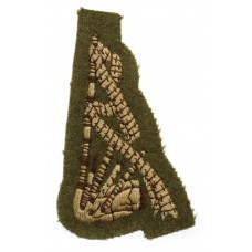 British Army Pipers Cloth Trade Badge