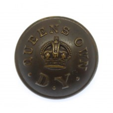 Queen's Own Dorset Yeomanry Officer's Button - King's Crown