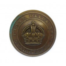 Royal First Devon Yeomanry Officer's Button - King's Crown (25mm)