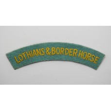 Lothians & Border Horse Yeomanry (LOTHIANS & BORDER HORSE) Cloth Shoulder Title