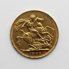 1905 P Edward VII 22ct Gold Full Sovereign Coin (Perth Mint)