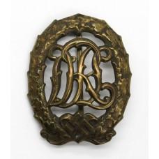 German Third Reich WW2 DRL Sports Badge (Bronze)