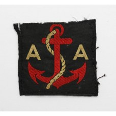 WW2 Royal Artillery Maritime Anti-Aircraft Artillery Cloth Formation Sign (1st Pattern)