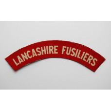 Lancashire Fusiliers (LANCASHIRE FUSILIERS) WW2 Printed Shoulder Title