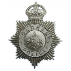 Oldham Borough Police Helmet Plate - King's Crown