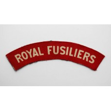 Royal Fusiliers WW2 Printed Shoulder Title