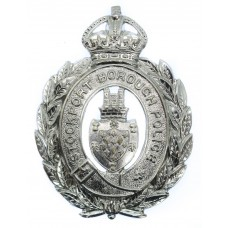 Stockport Borough Police Wreath Helmet Plate - King's Crown