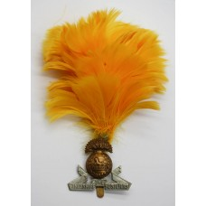 Lancashire Fusiliers Cap Badge with Feather Hackle/Plume
