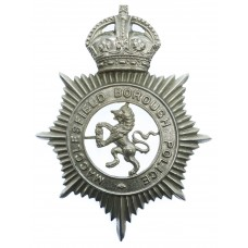Macclesfield Borough Police Helmet Plate - King's Crown