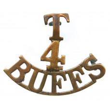 4th Territorial Bn. East Kent Regiment (T/4/BUFFS) Shoulder Title