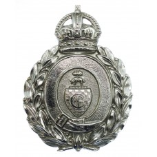 Dewsbury Borough Police Wreath Helmet Plate - King's Crown