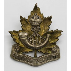 Canadian Royal Hamilton Light Infantry (R.H.L.I.) Cap Badge - King's Crown