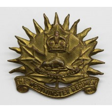 Canadian Westminster Regiment Cap Badge - King's Crown