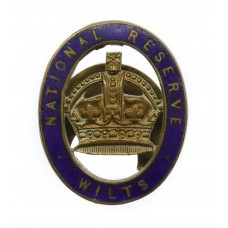 National Reserve Wiltshire (WILTS) Enamelled Lapel Badge