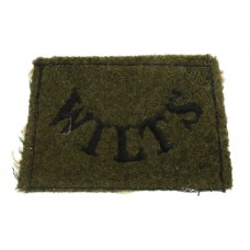 Wiltshire Regiment (WILTS) WW2 Cloth Slip On Shoulder Title