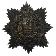 Blackpool Police Night Helmet Plate - King's Crown