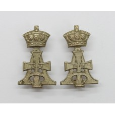 Pair of 19th Hussars Collar Badges