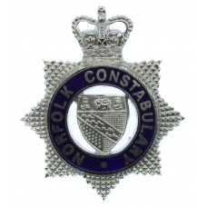 Norfolk Constabulary Senior Officer's Enamelled Cap Badge - Queen