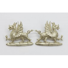 Pair of 1st Bn. Monmouthshire Regiment Officer's Collar Badges