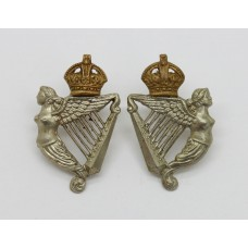 Pair of 8th King's Royal Irish Hussars Collar Badges - King's Crown