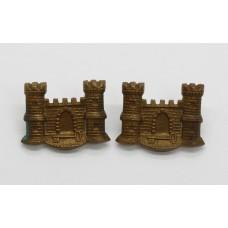Pair of Victorian Suffolk Regiment Collar Badges