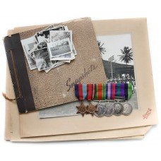 WW2, GSM (Clasp - Malaya) and Colonial Police Medal Group of Six with Photo Album - Deputy Supt. A.L. Hardy, Federation of Malaya Police