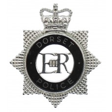 Dorset Police Senior Officer's Enamelled Cap Badge - Queen's Crow