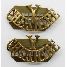 Pair of Cheshire Yeomanry (Y/CHESHIRE) Shoulder Titles