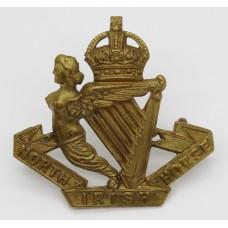 North Irish Horse Cap Badge - King's Crown (Non Voided Harp)