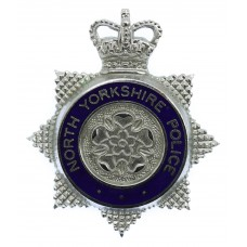 North Yorkshire Police Senior Officer's Enamelled Cap Badge - Queen's Crown