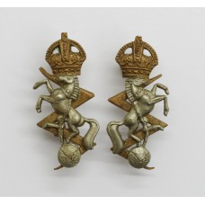 Pair of Royal Electrical & Mechanical Engineers (R.E.M.E.) Collar Badges - King's Crown