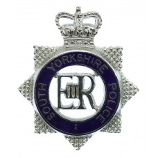 South Yorkshire Police Senior Officer's Enamelled Cap Badge - Queen's Crown