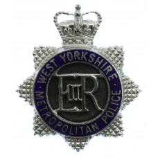 West Yorkshire Metropolitan Police Senior Officer's Enamelled Cap Badge - Queen's Crown