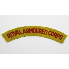 WW2 Royal Armoured Corps Cloth Shoulder Title