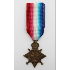 WW1 1914-15 Star. 15762 Pte. A. Ellison. 17th (1st City Pals) Bn. King's (Liverpool) Regiment