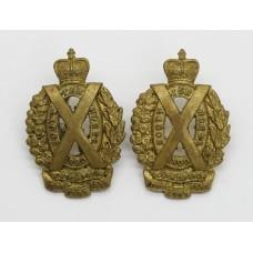 Pair of Scottish Horse Yeomanry Collar Badges