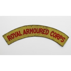 WW2 Royal Armoured Corps Printed Shoulder Title