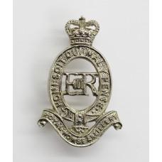Royal Horse Artillery White Metal Cap Badge - Queen's Crown