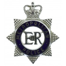 Metropolitan Police Senior Officer's Enamelled Cap Badge - Queen's Crown
