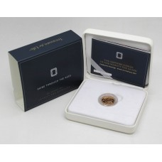 Royal Mint 2017 Sapphire Jubilee Brilliant Uncirculated 22ct Gold Sovereign Coin in Box