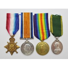 WW1 1914-15 Star Trio and T.E.M - Pte. S. Ainley. West Riding Regiment