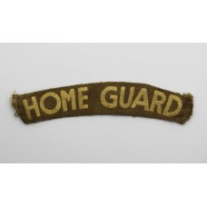 WW2 Home Guard (HOME GUARD) Painted Cloth Shoulder Title